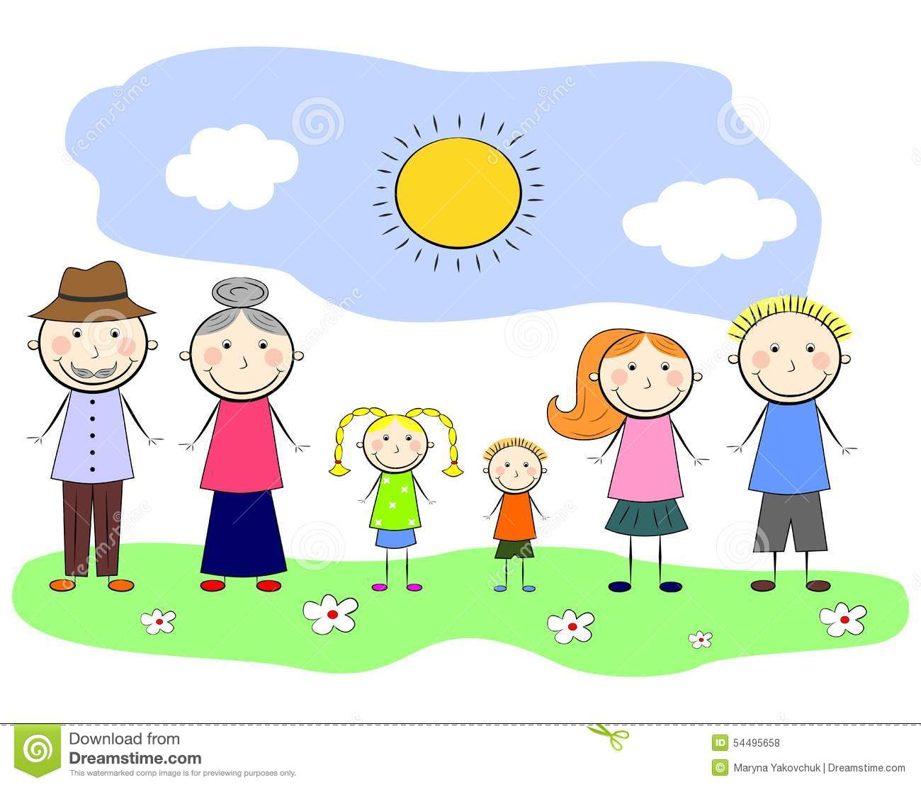 My Family Stock Vector Illustration Of Comics Concept
