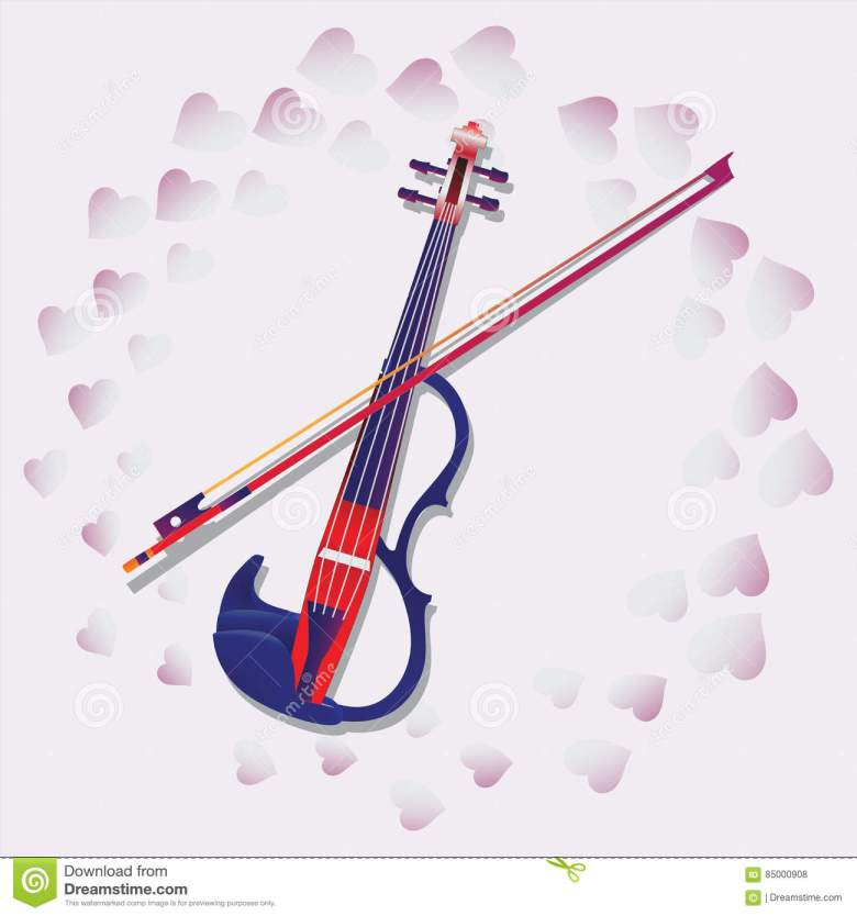 my love. violin. stock vector. illustration of shadow - 85000908