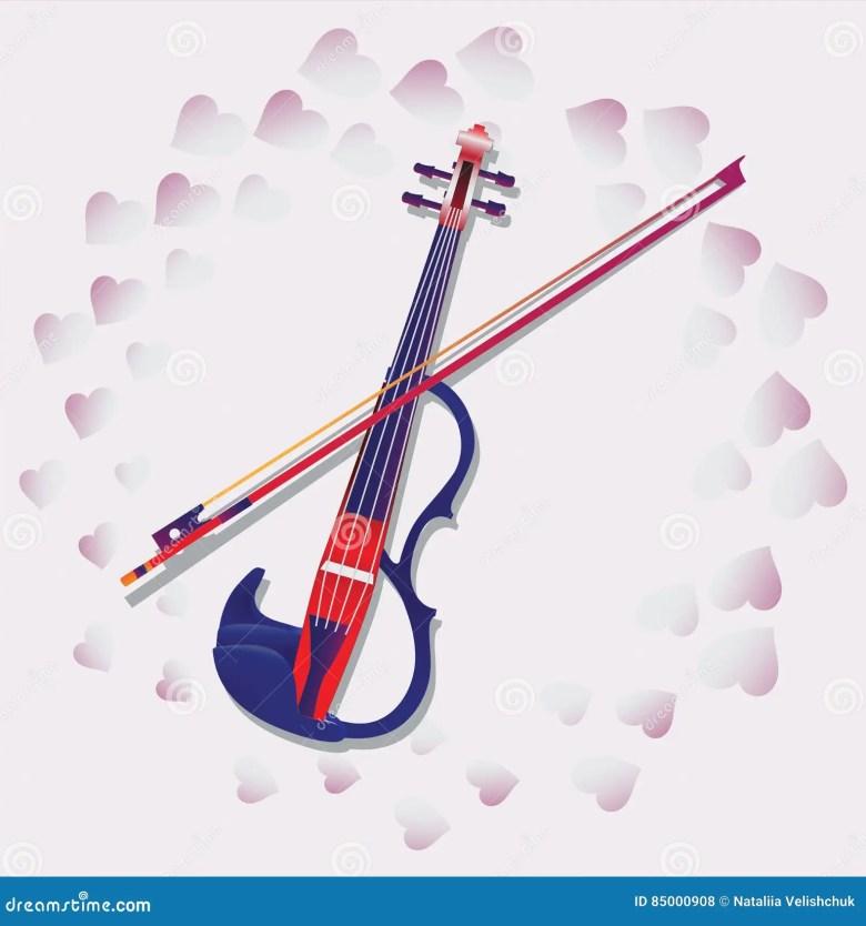 my love. violin. stock vector. illustration of shadow - 85000908