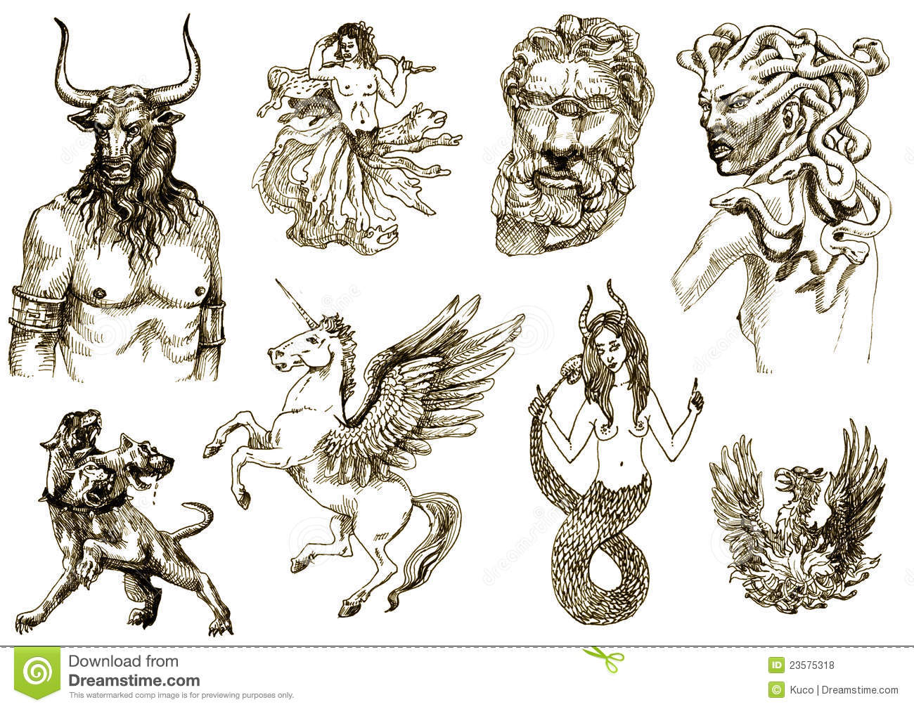Mystical Creatures 2 Stock Vector Illustration Of