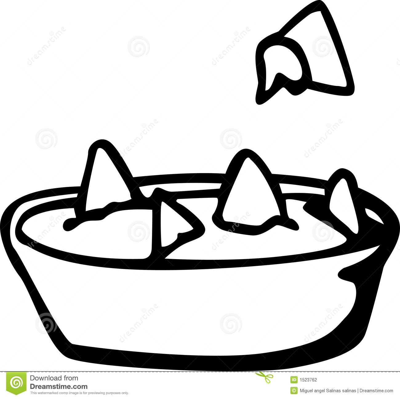 Nachos With Cheese Dish Vector Illustration Stock Vector