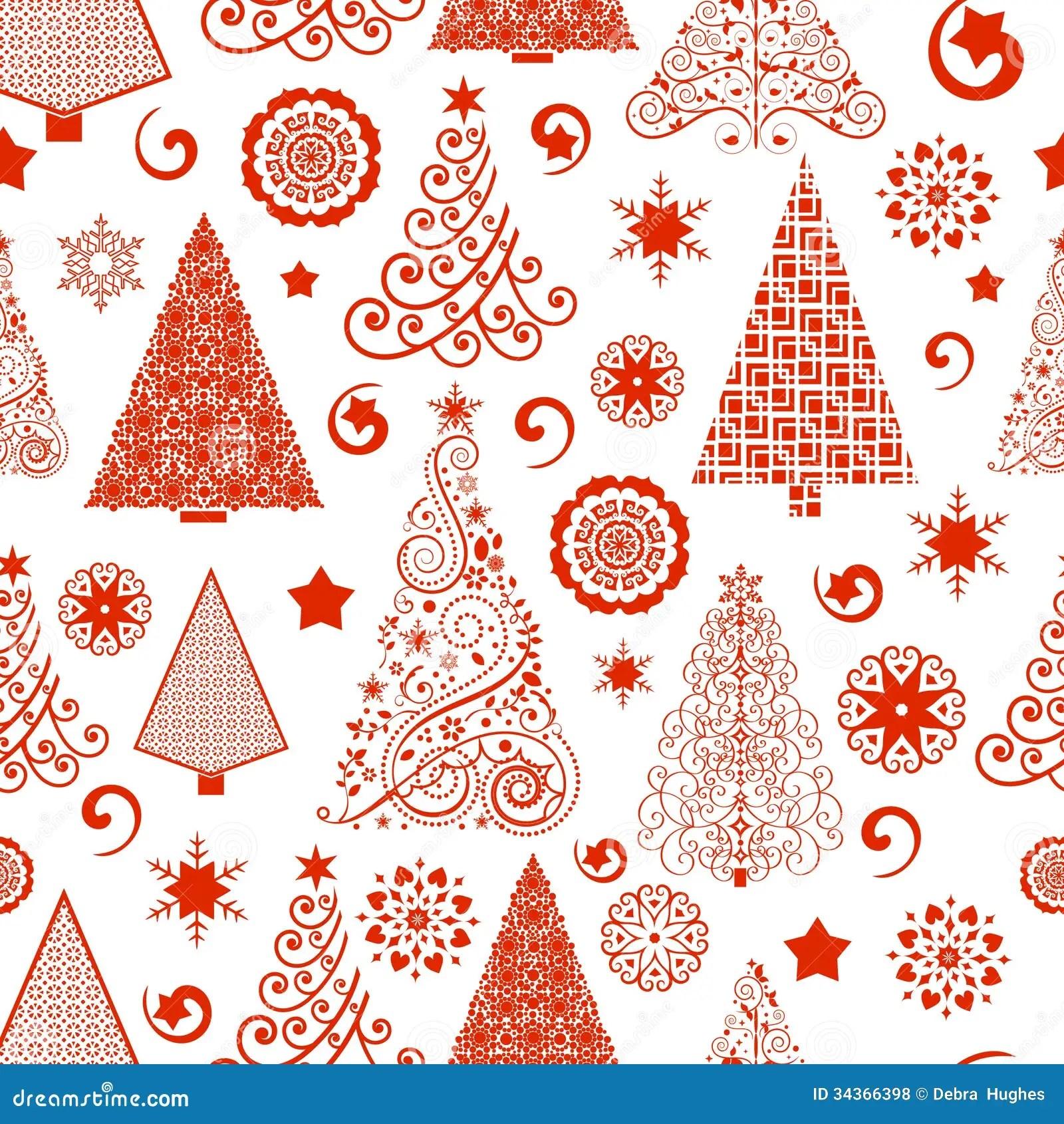 Nahtloses Weihnachtsbaum Muster Vektor Abbildung