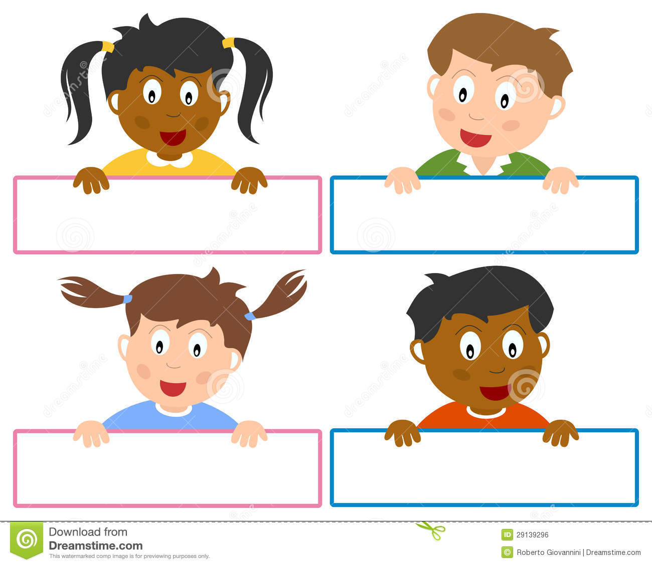 Name Tags For Kids Stock Vector Illustration Of Design 29139296