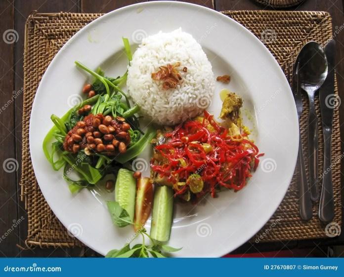 Nasi Lemak Typical Indonesian Food Bali Stock Photo 27670807 Megapixl