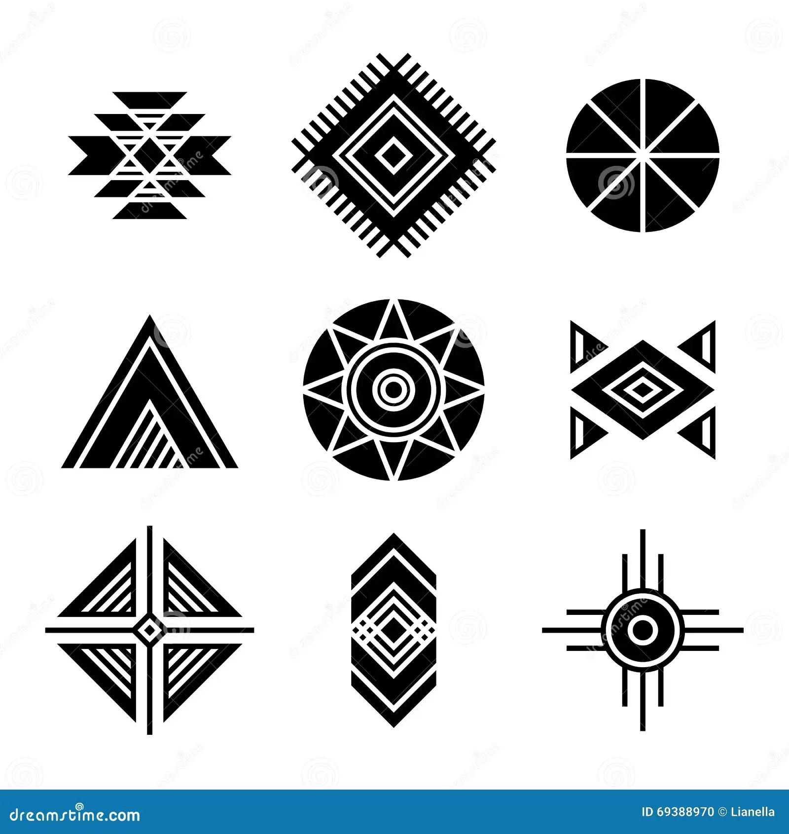 Native American Indians Tribal Symbols Stock Vector