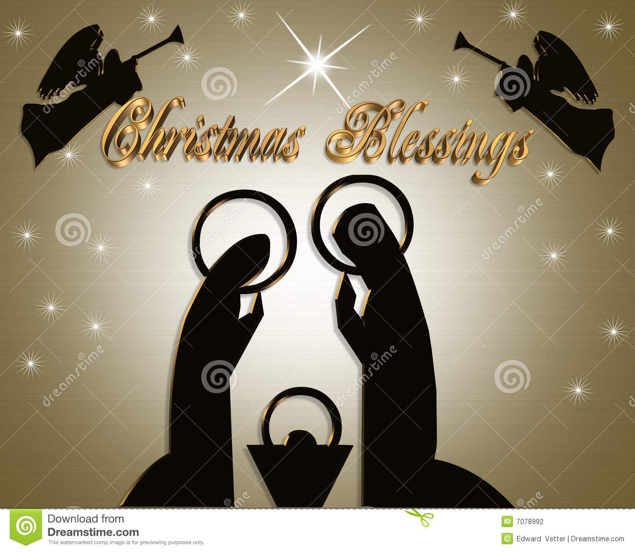 Nativity Christmas Abstract Stock Photography Image 7078992