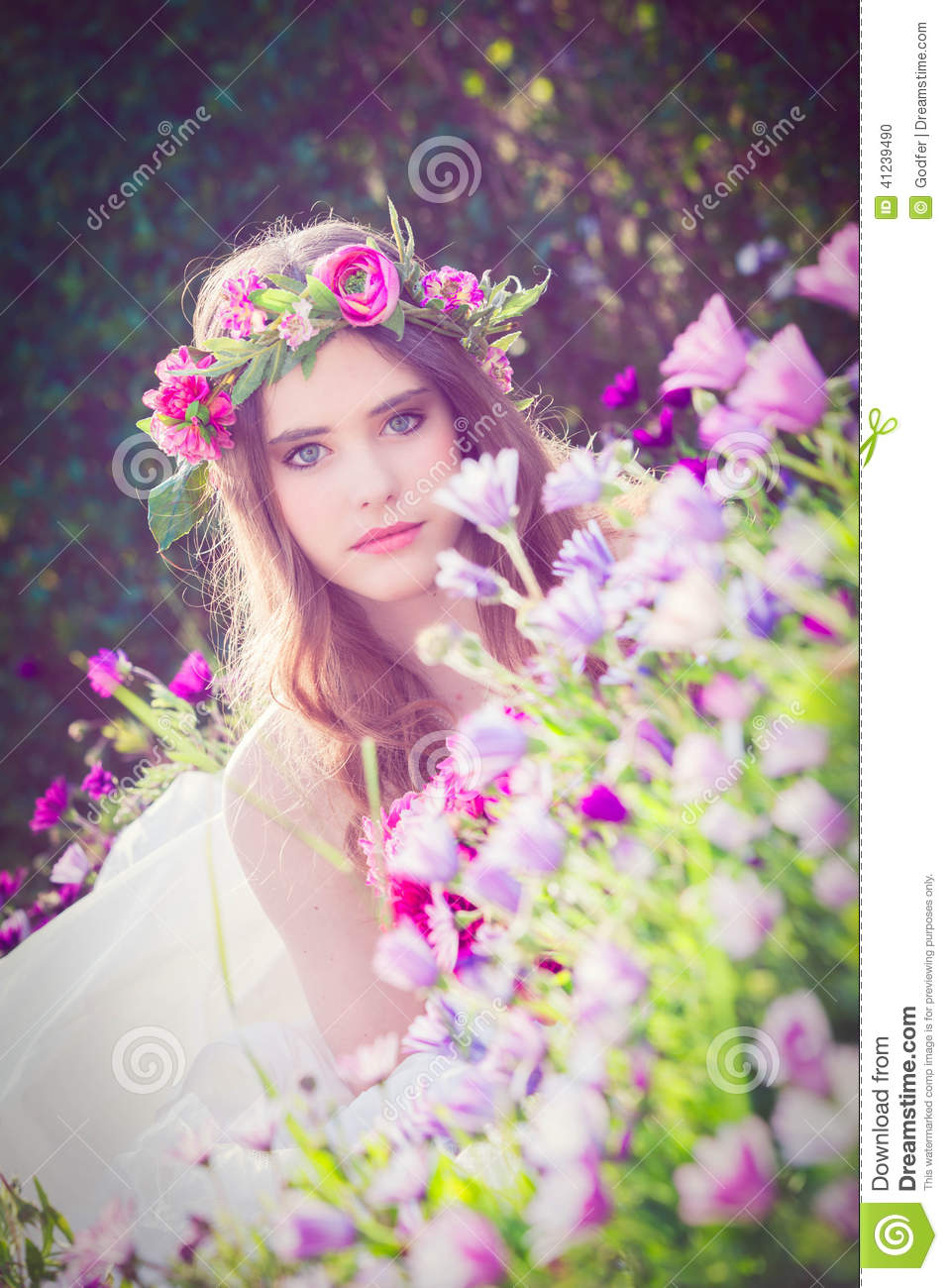 Natural Beauty Flower Fairy Stock Photo Image 41239490