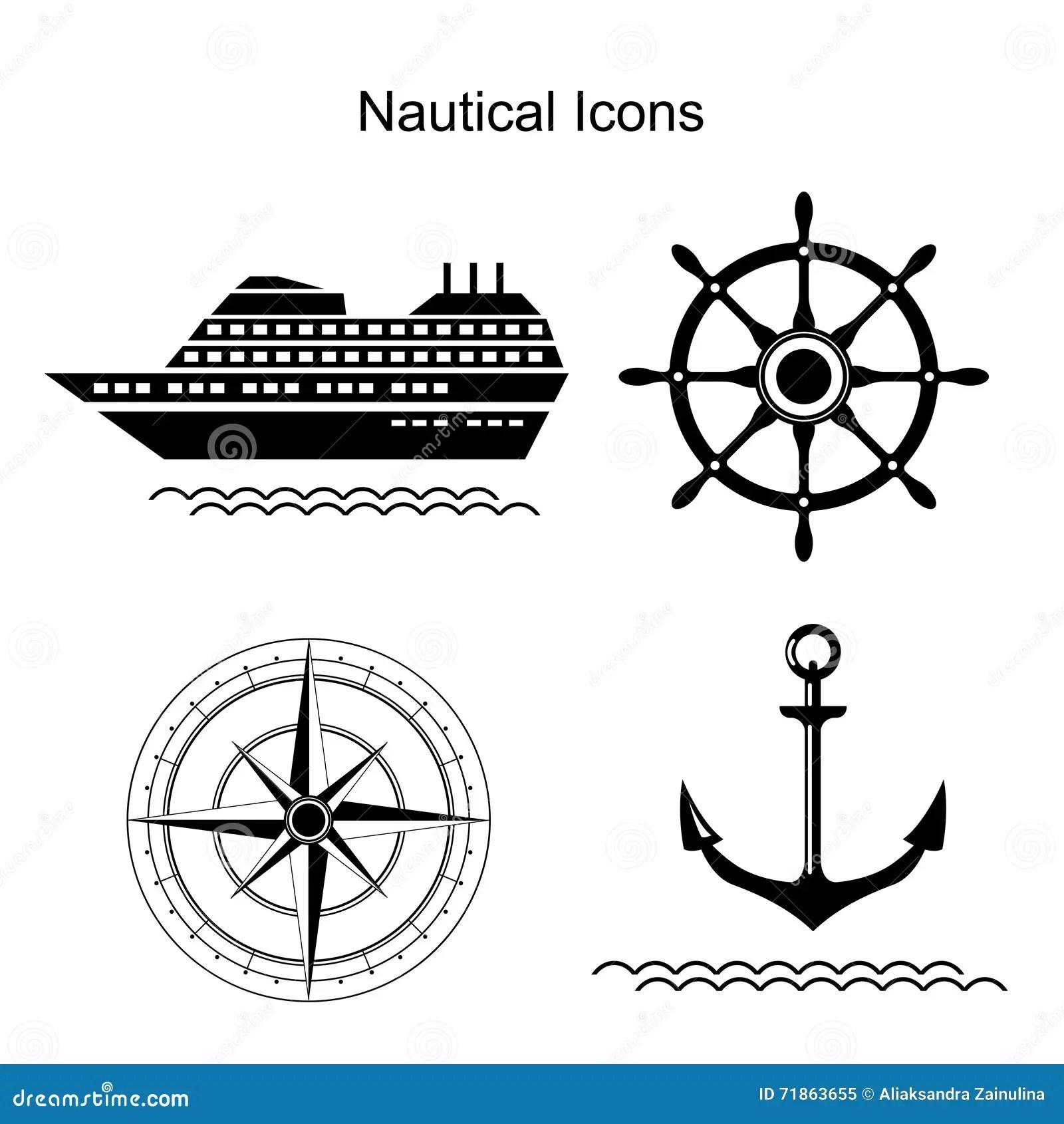 Nautical Vector Symbols Stock Vector