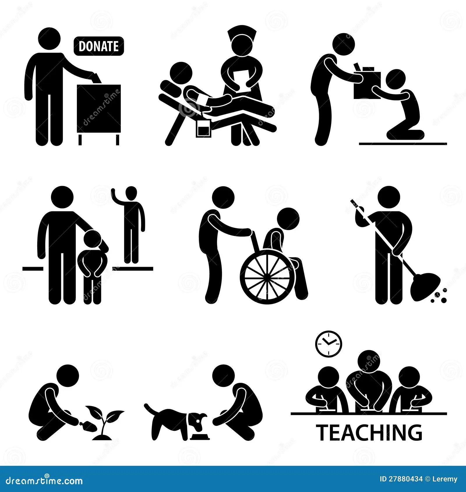 Nachstenliebe Abgabe Freiwilliges Helfendes Piktogramm