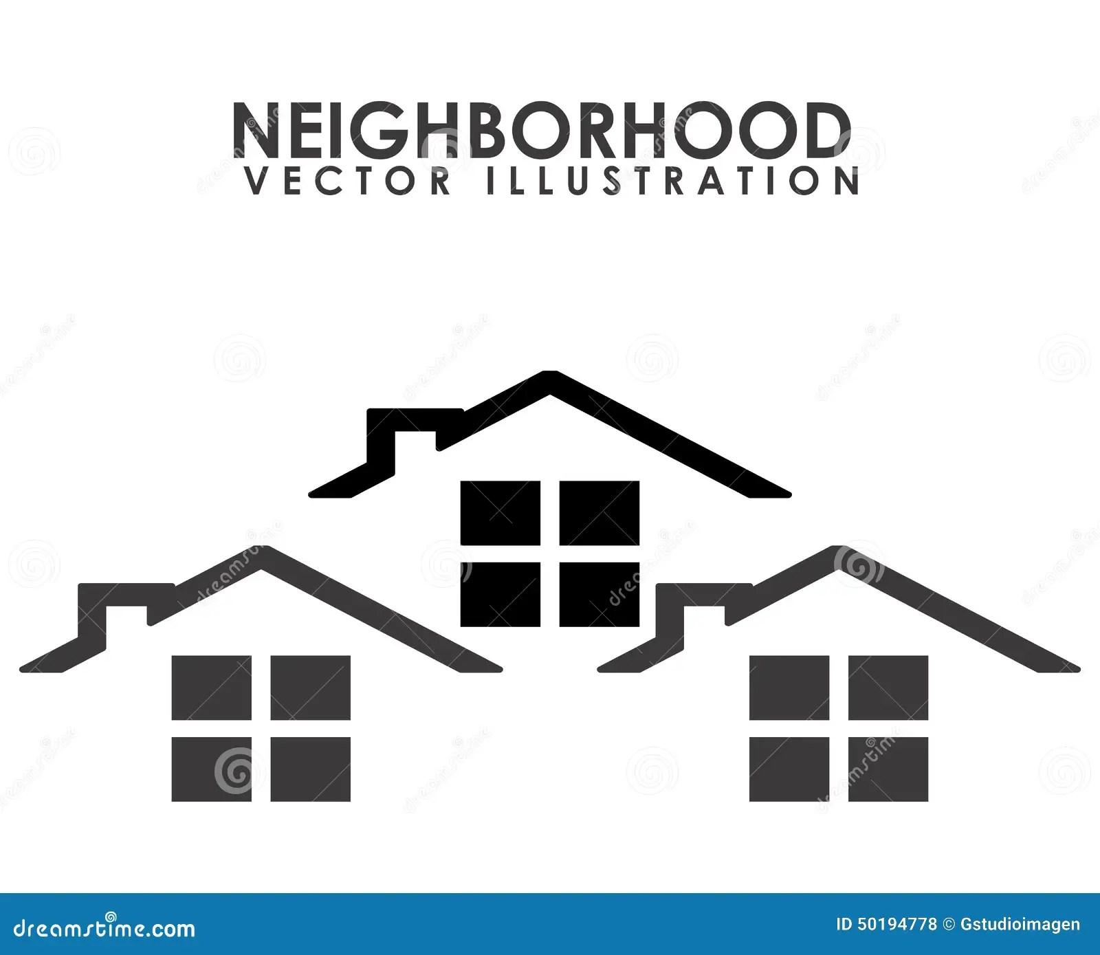 Neighborhood Stock Vector Illustration Of Community