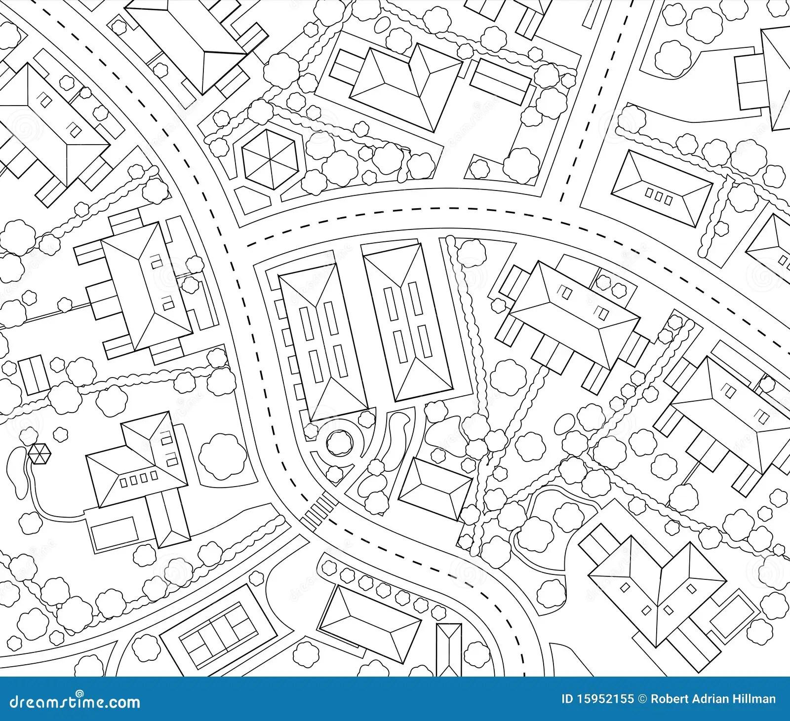 Neighborhood Outline Stock Vector Illustration Of Generic