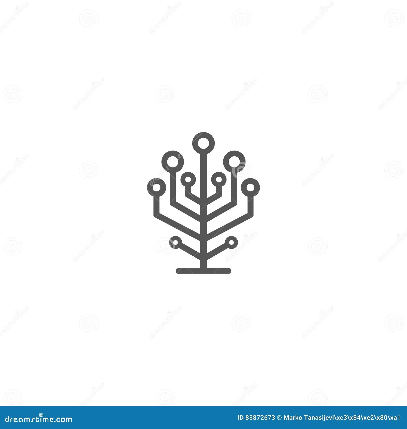 Growth Tree Circuit Technology Concept Cartoon Vector