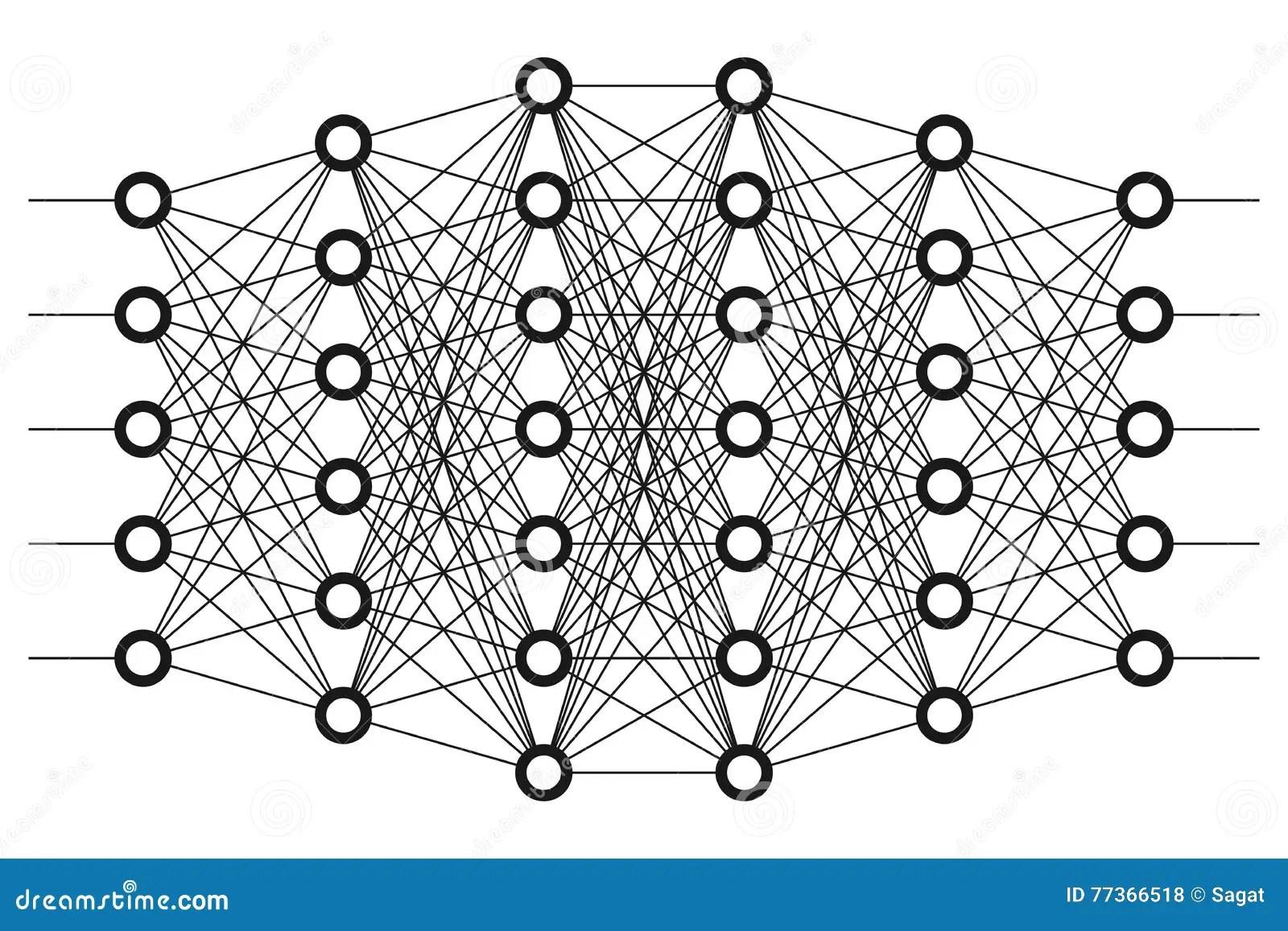 Neural Net Neuron Network Stock Vector