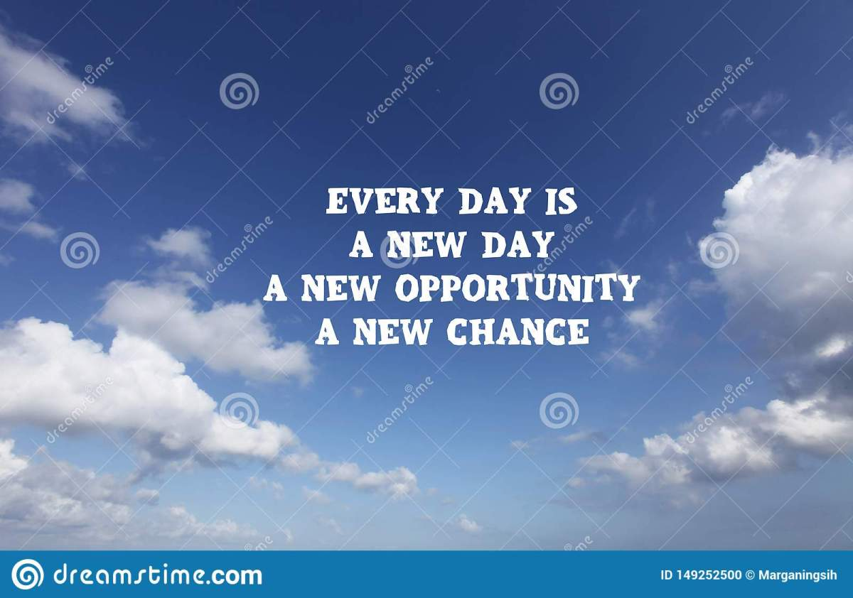 New Day Quote. Inspirational Motivational Quote- Every Day ...