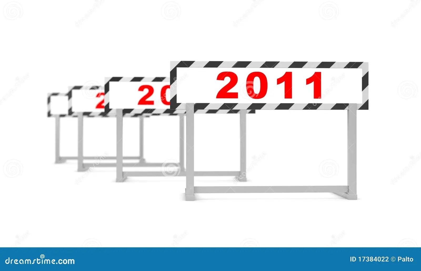 New Hurdle Stock Illustration Illustration Of