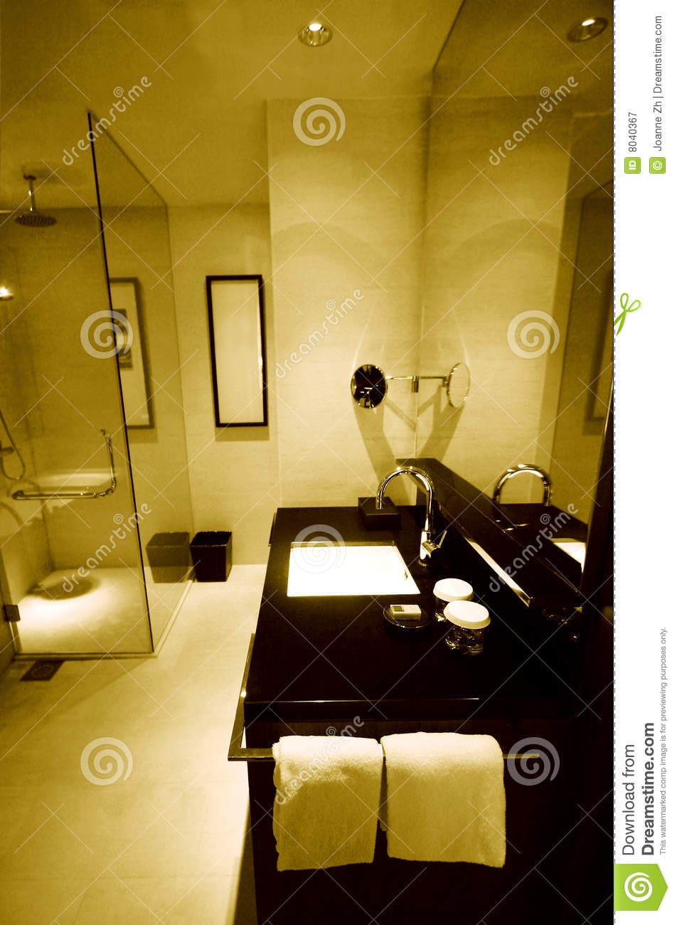 New Luxury Resort Hotel Bathrooms Royalty Free Stock