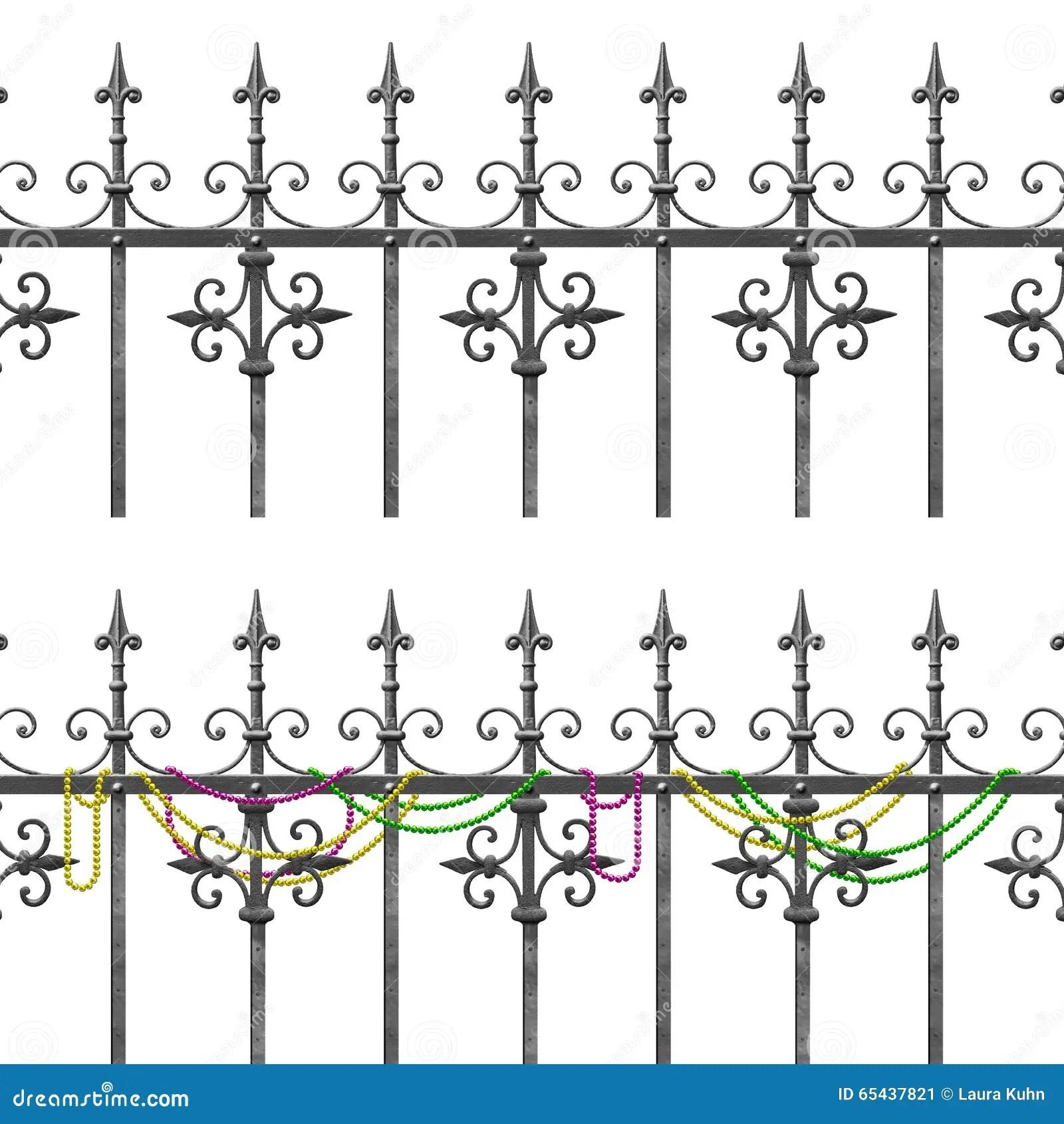 New Orleans Wrought Iron Balcony Stock Illustration
