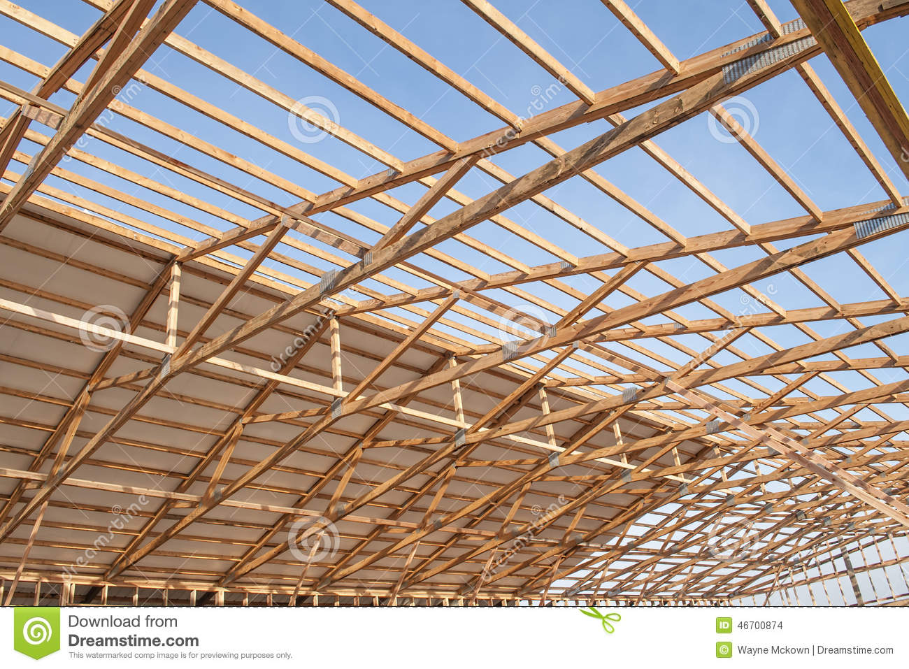 New Wood Frame Barn Construction Stock Photo Image 46700874
