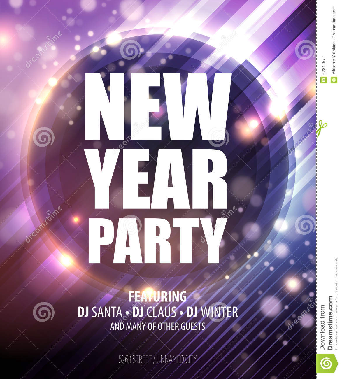 New Year And Christmas Party Poster Template Stock Vector     New year and Christmas party poster template