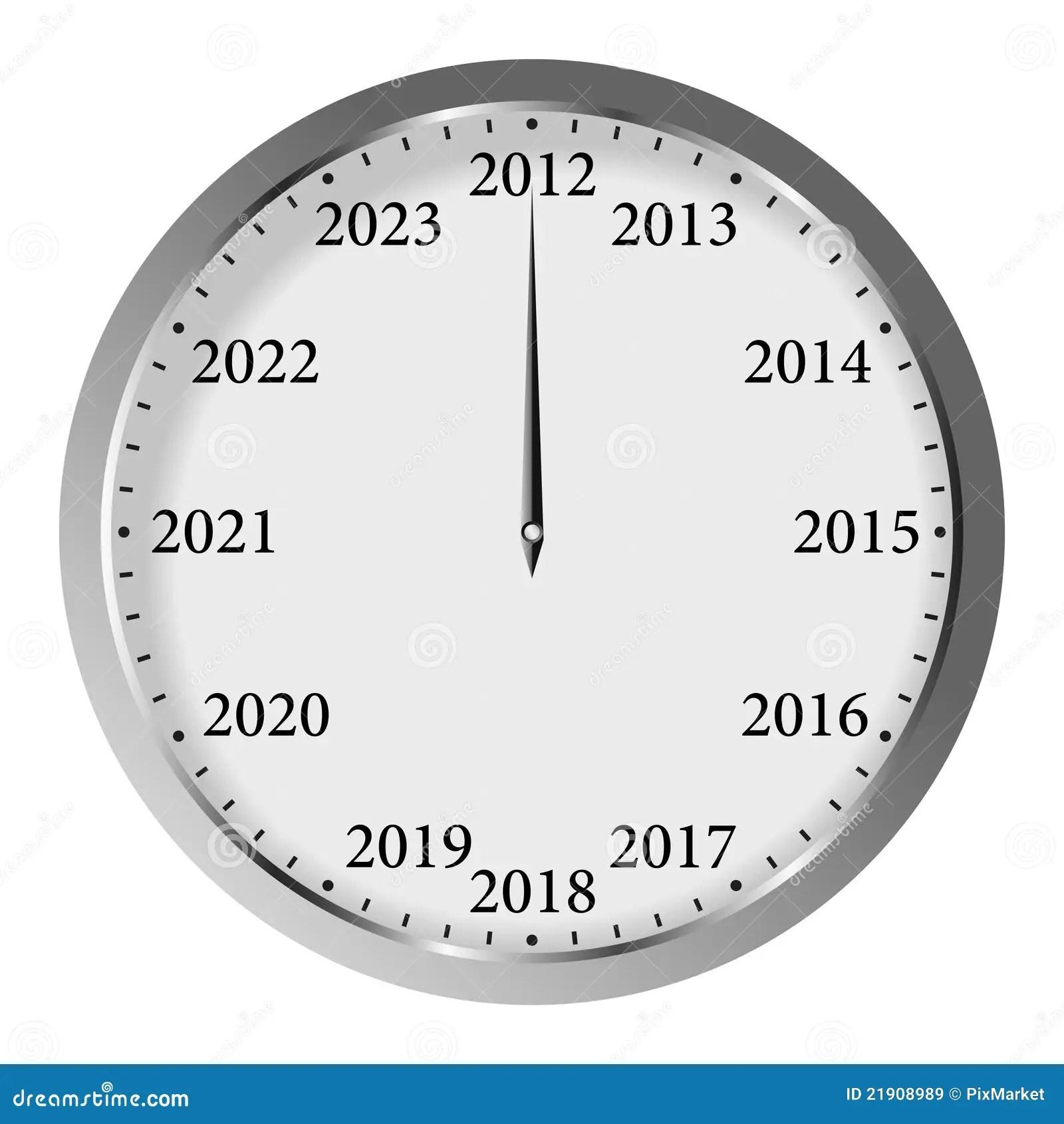New Year Clock Stock Vector Illustration Of Modern