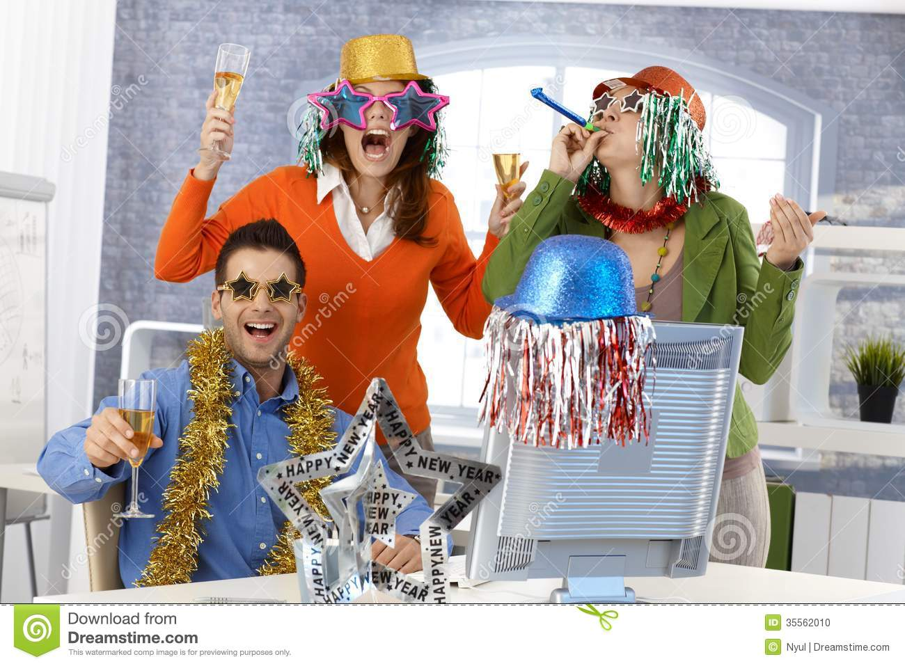 New Years Eve Party In Office Stock Photo Image 35562010