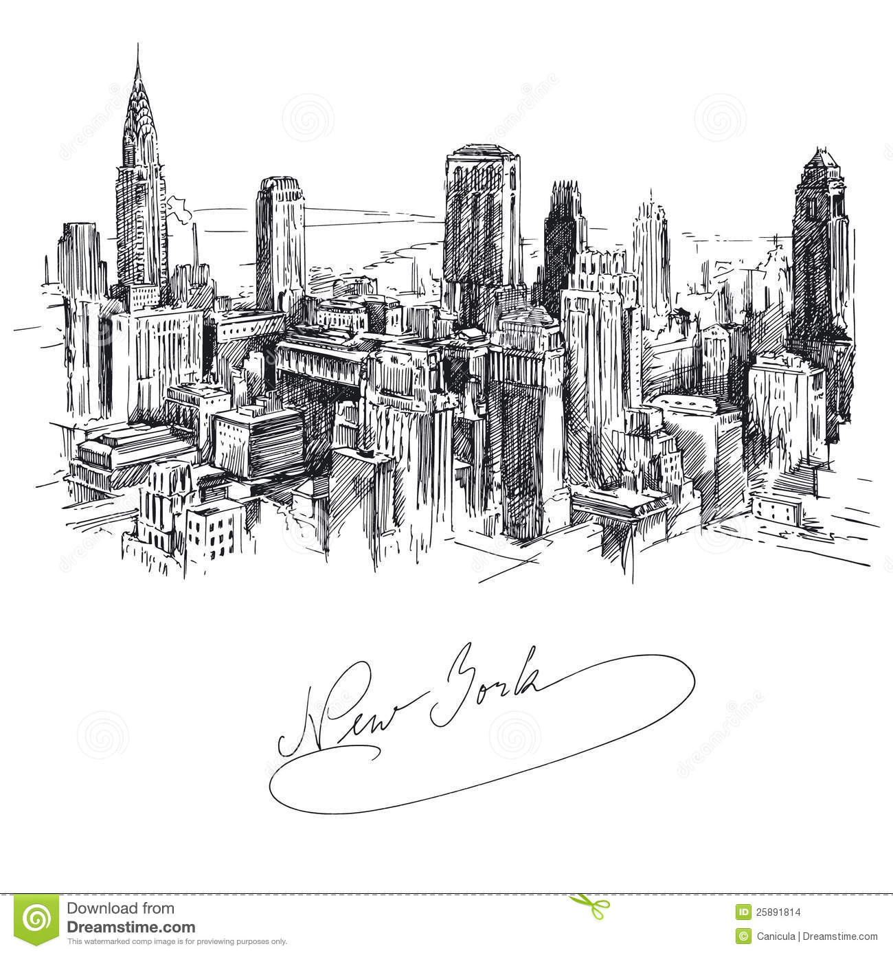 New York Stock Vector Illustration Of Background High