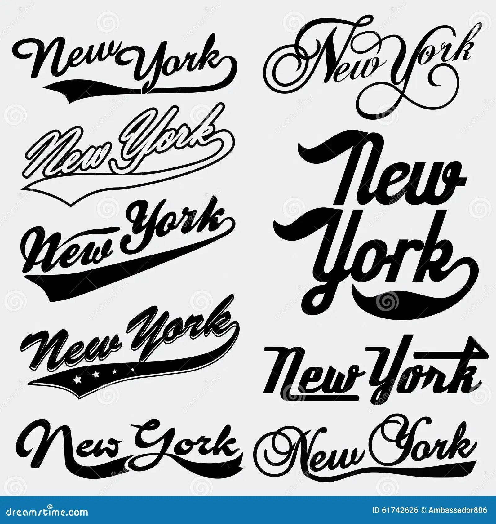 New York Typography Stock Vector