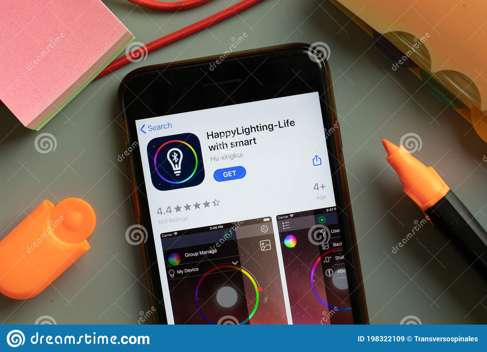 new york usa 29 september 2020 happylighting life with smart mobile app logo on phone screen close up illustrative editorial editorial stock image image of editorial illustrative 198322109