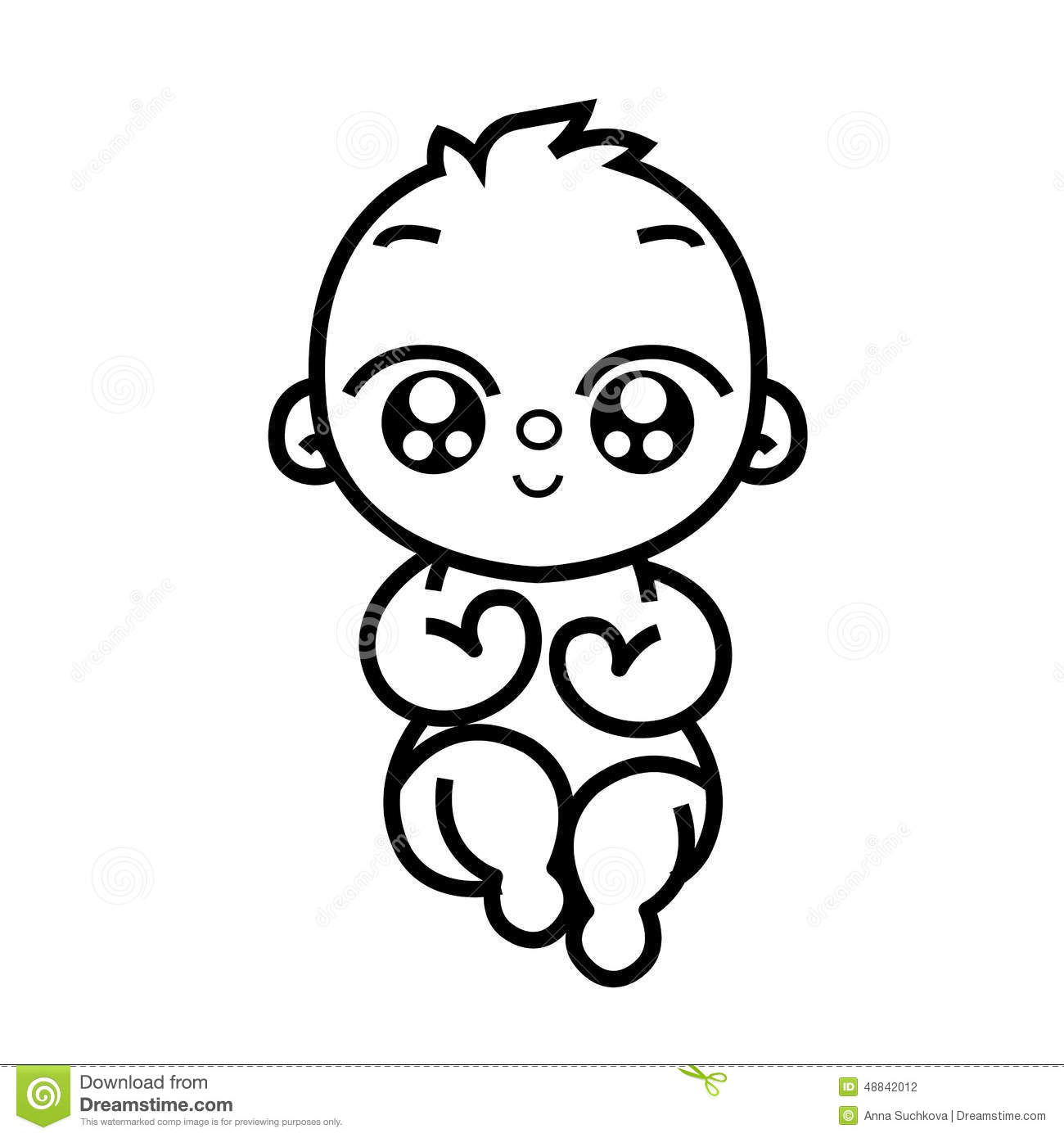 Newborn Little Baby Stock Vector Illustration Of Child