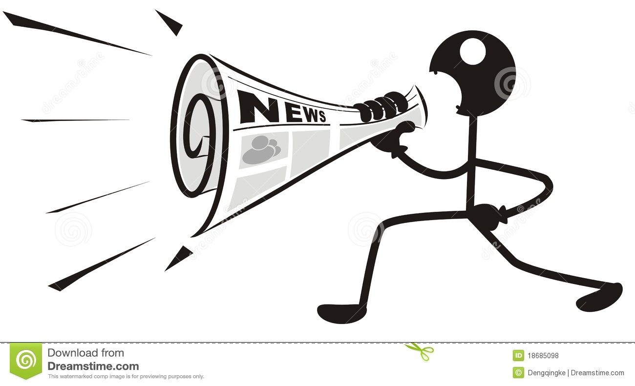 Newspaper Megaphone Stock Vector Image Of Woman Abstract
