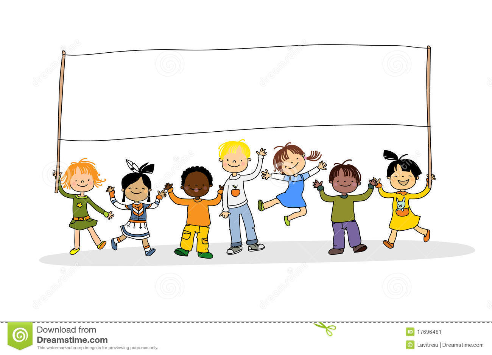 Ninos Multiculturales Ilustracion Del Vector Ilustracion De Tierra