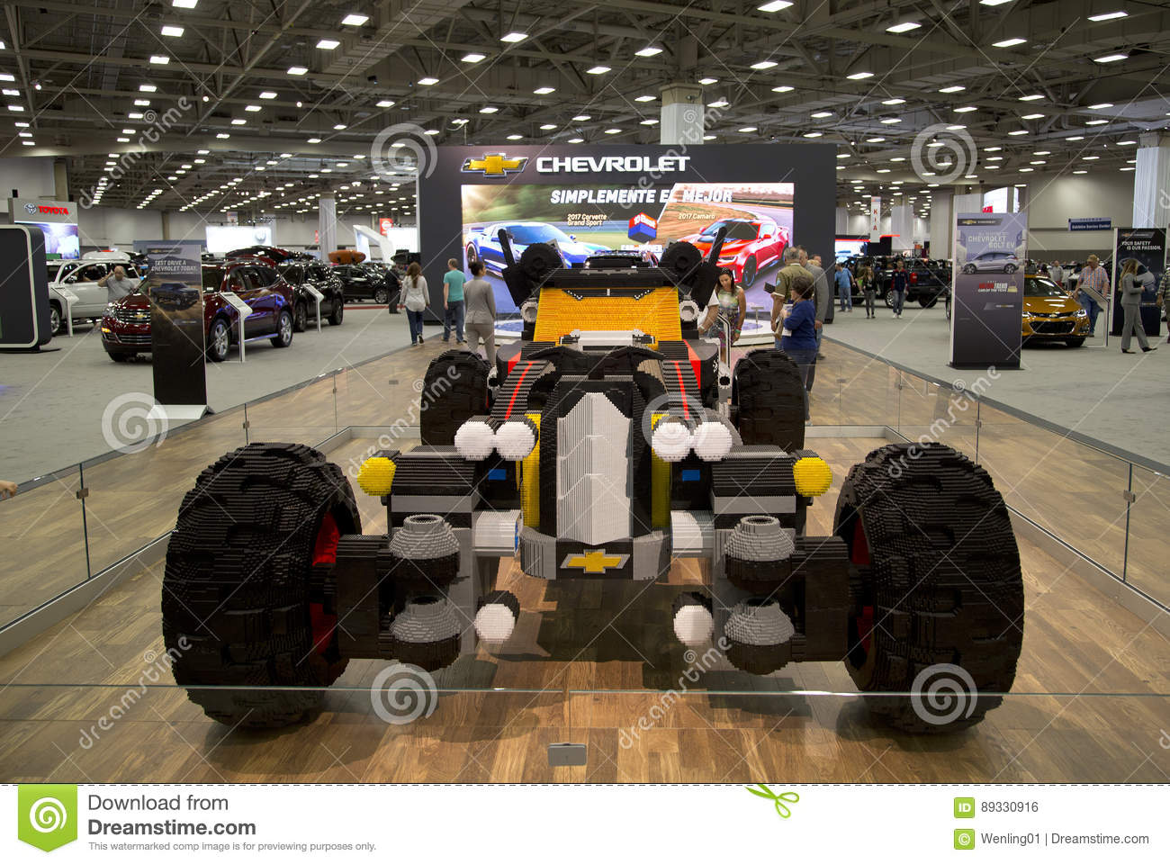 CHEVROLET Car Was Build With Lego In Dallas Auto Show Editorial     Download CHEVROLET Car Was Build With Lego In Dallas Auto Show Editorial  Photo   Image of