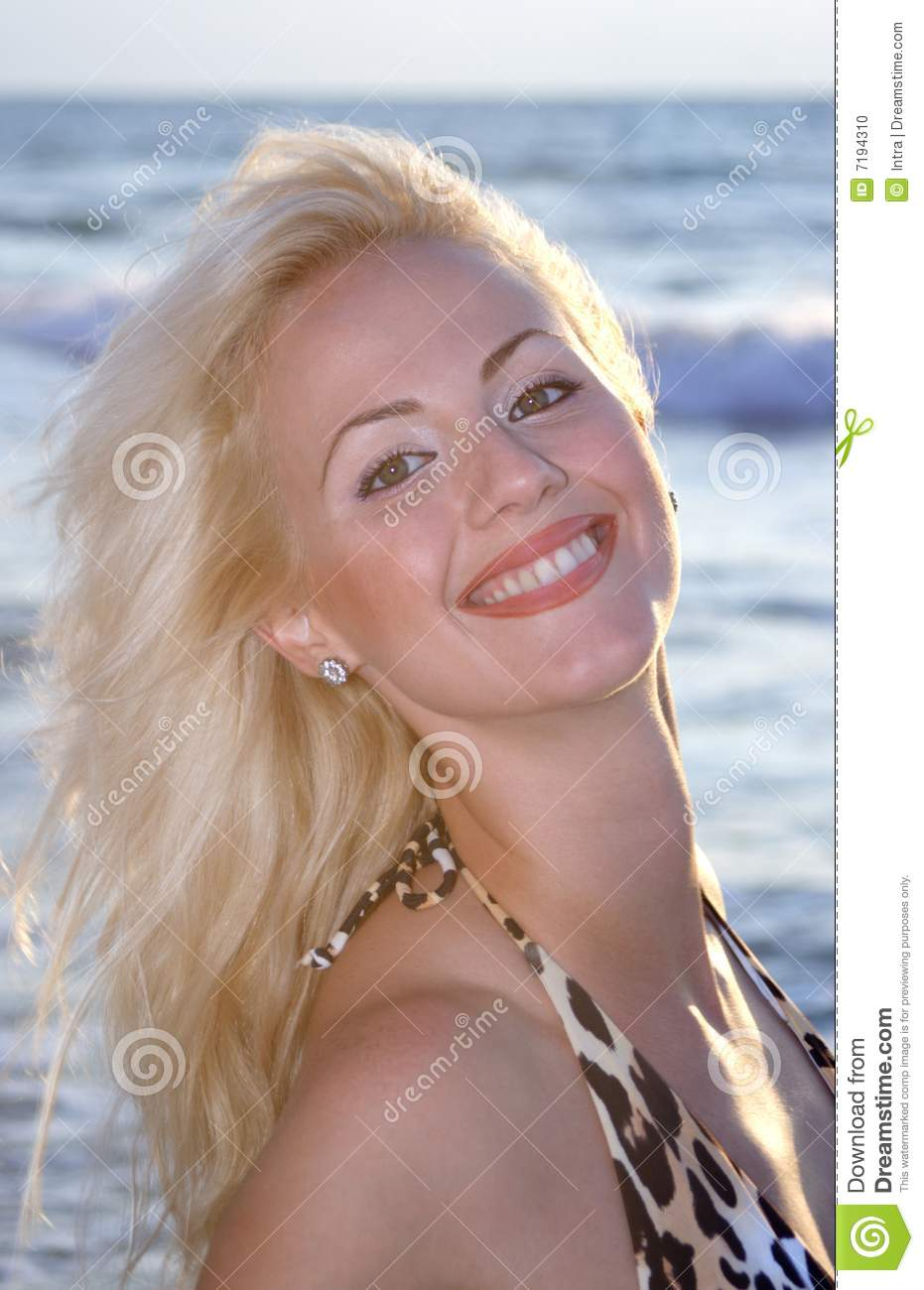 Nice Womans Portrait Stock Photo Image Of Happiness