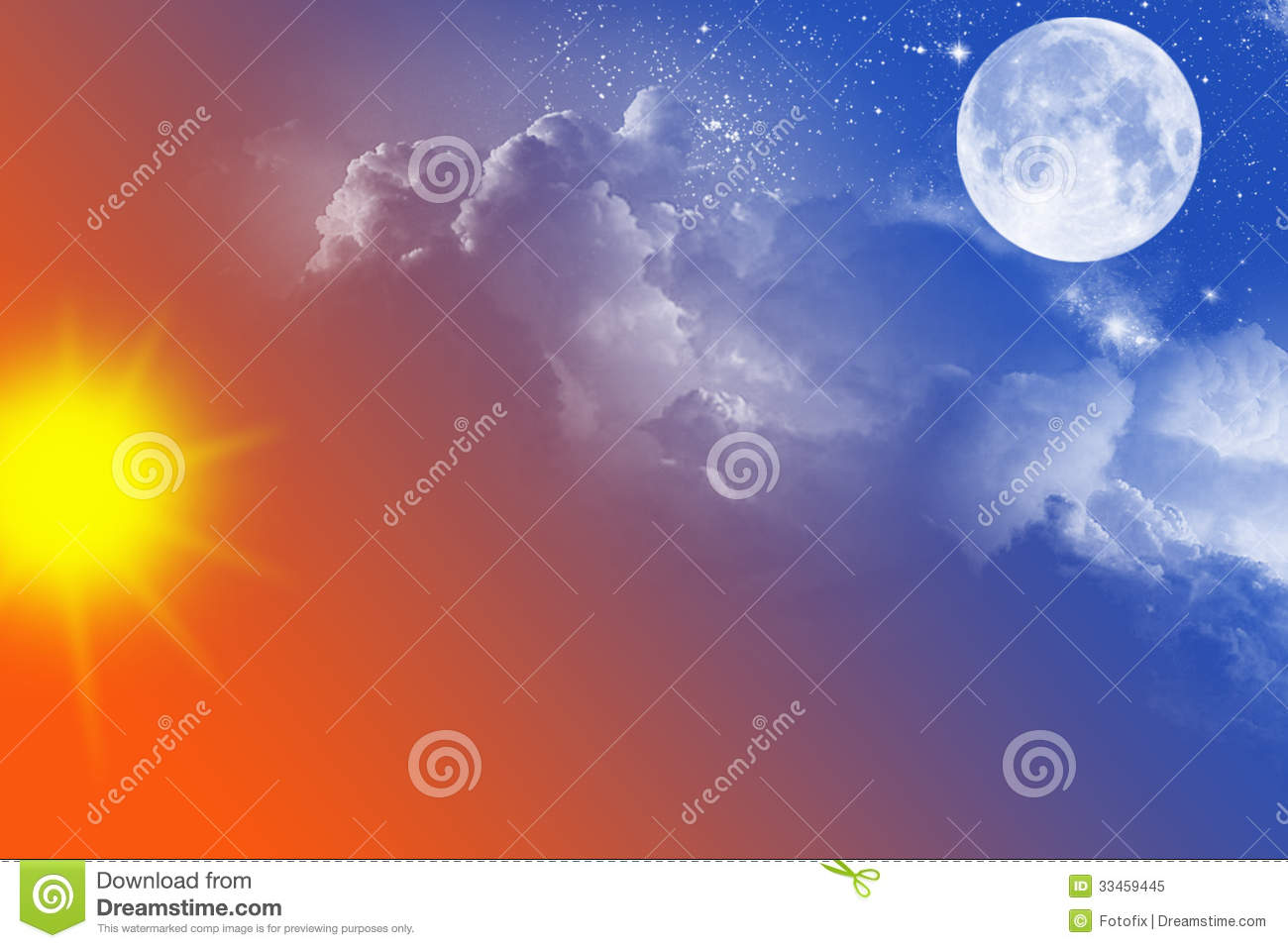 Night And Day Stock Image Image Of Moonshine Sunny