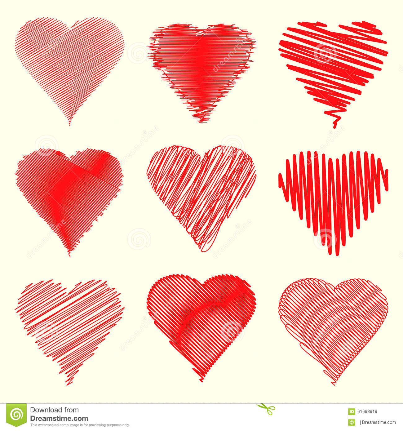 Nine Different Heart Shapes Collection Specially For