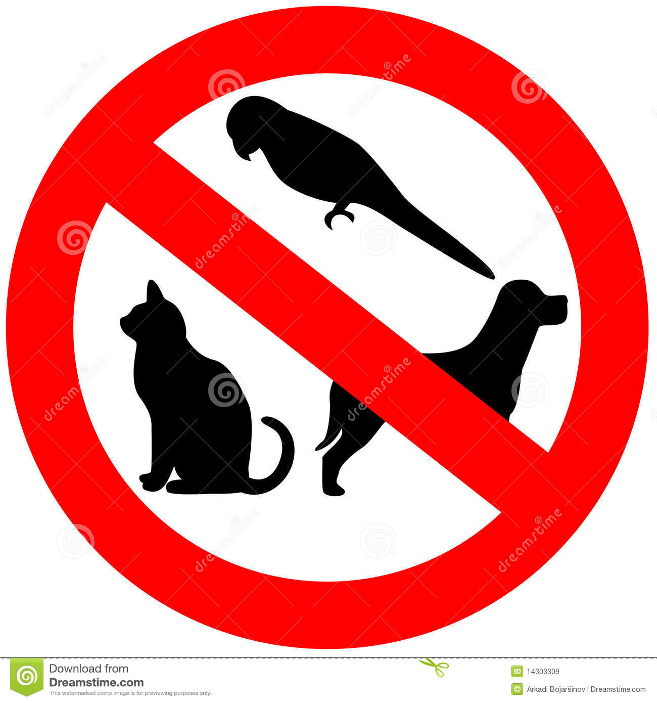 No Animals Allowed Royalty Free Stock Images