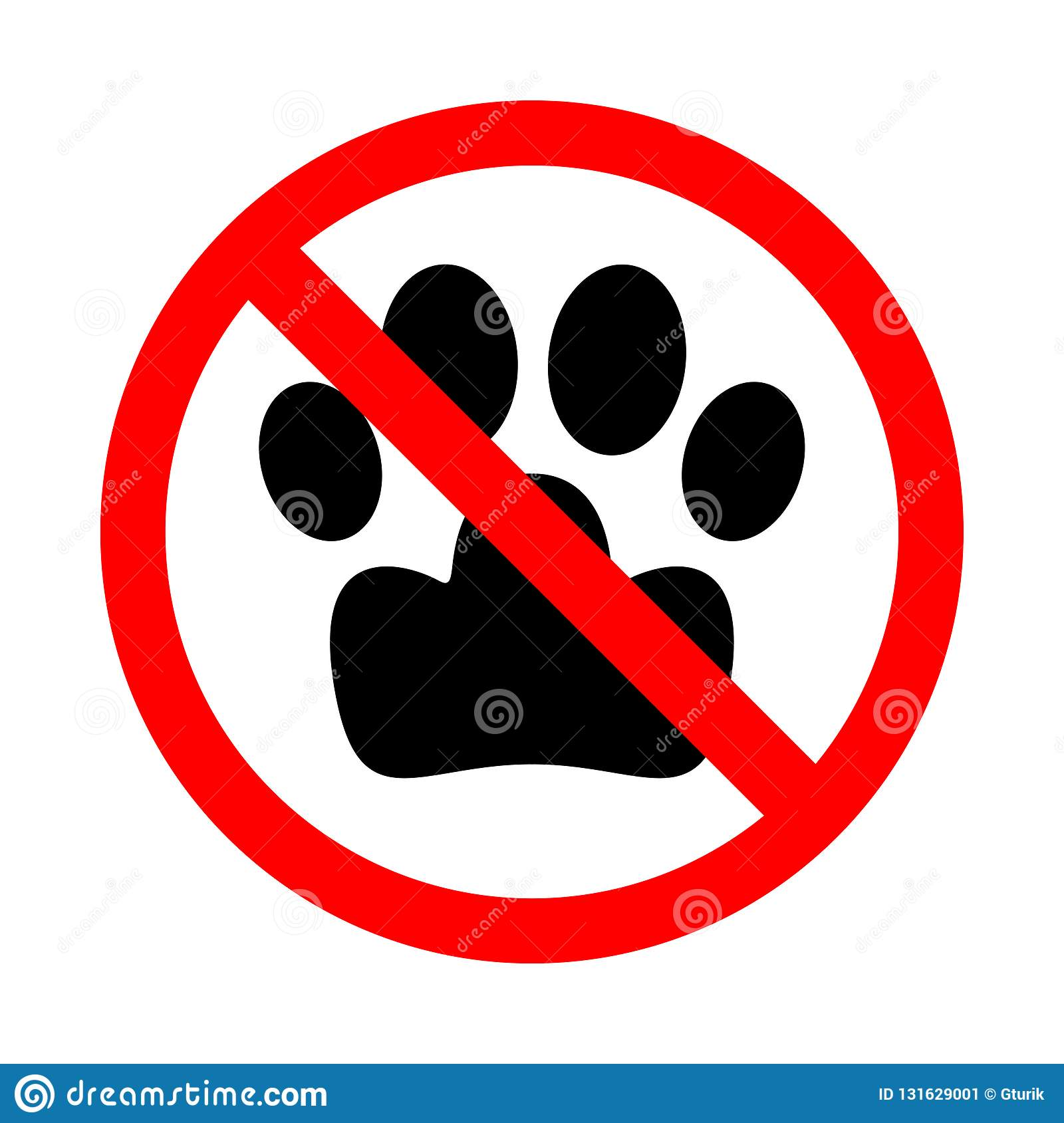 No Pets Allowed Pets Prohibition Sign Prohibited Sign For