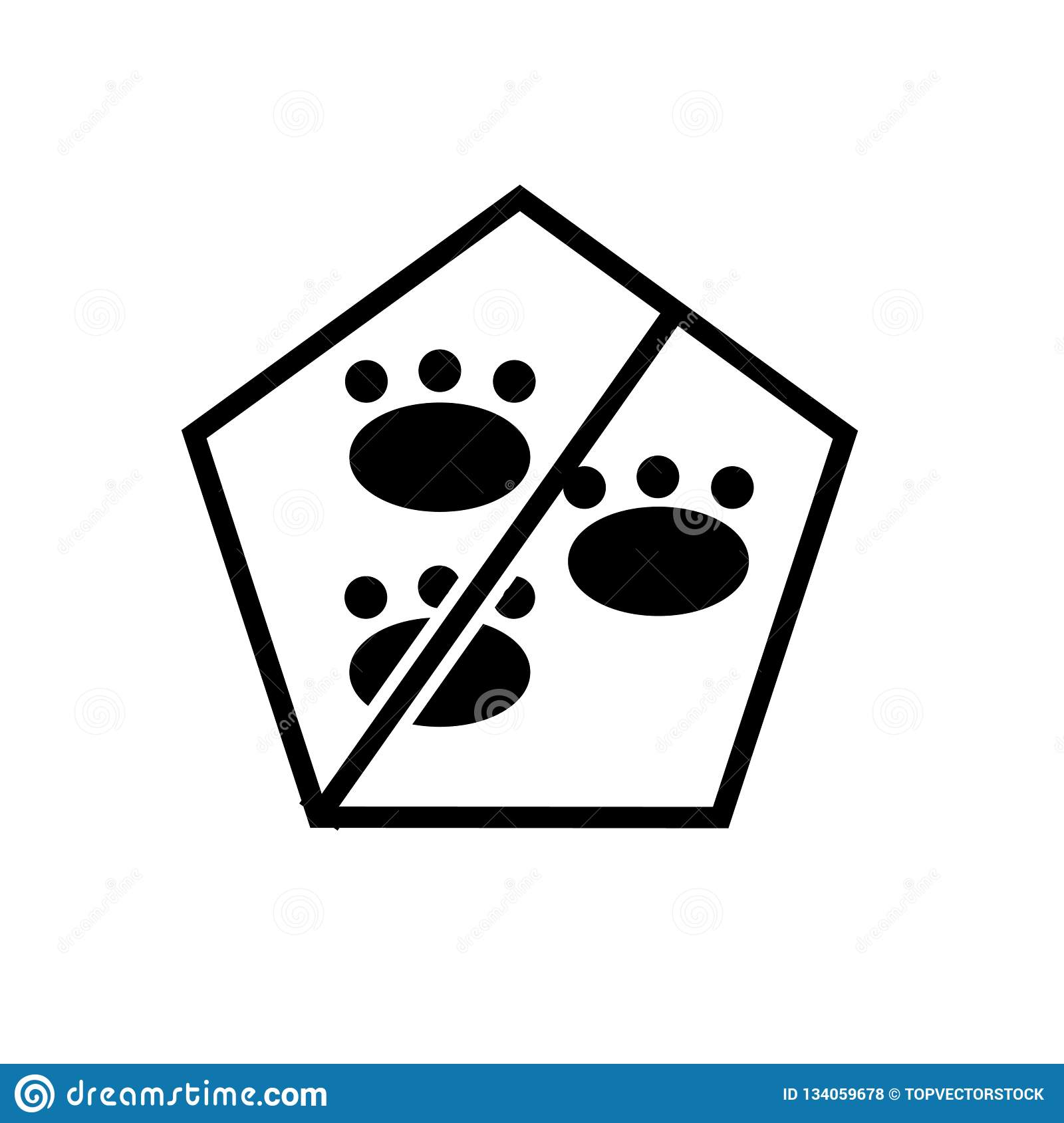 No Pets Icon Vector Isolated On White Background No Pets