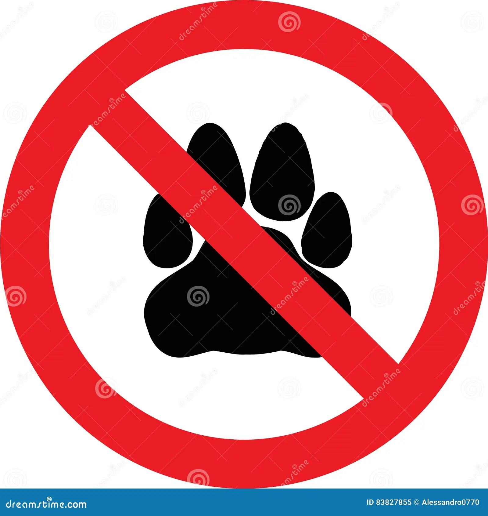 No Pets Sign Stock Illustration Illustration Of Stop