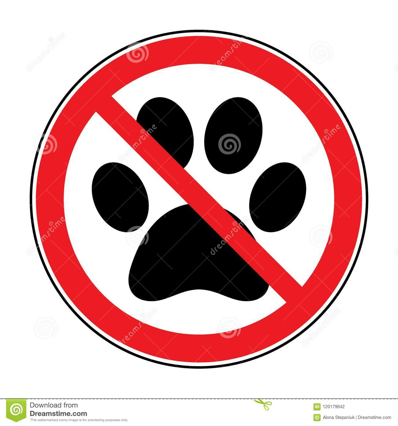 No Pets Sign Stock Vector Illustration Of Button