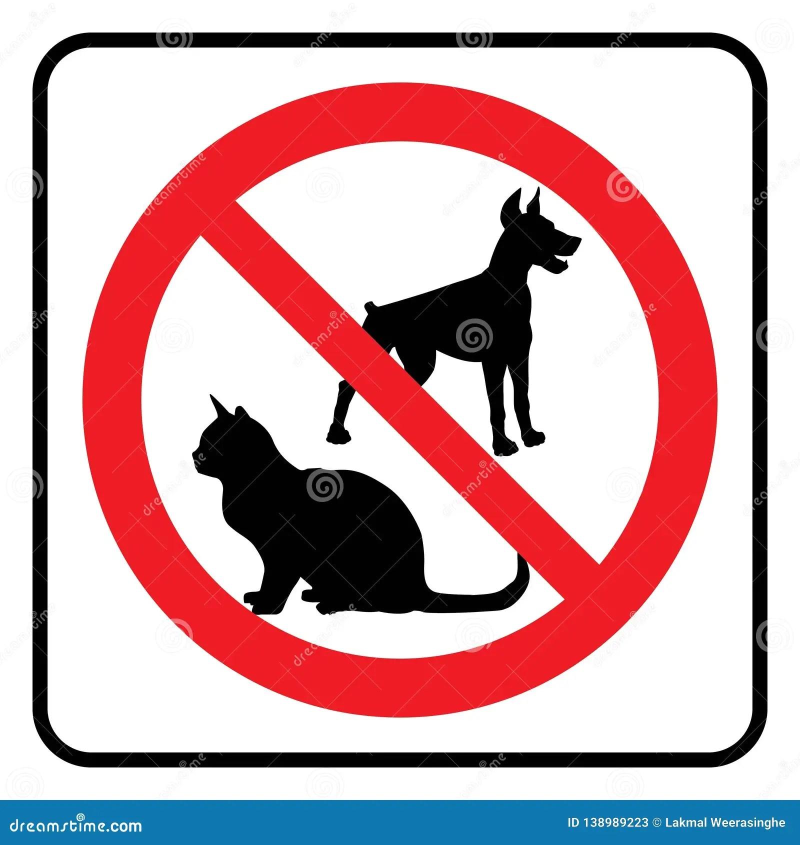 No Pets Symbol Stock Vector Illustration Of Information