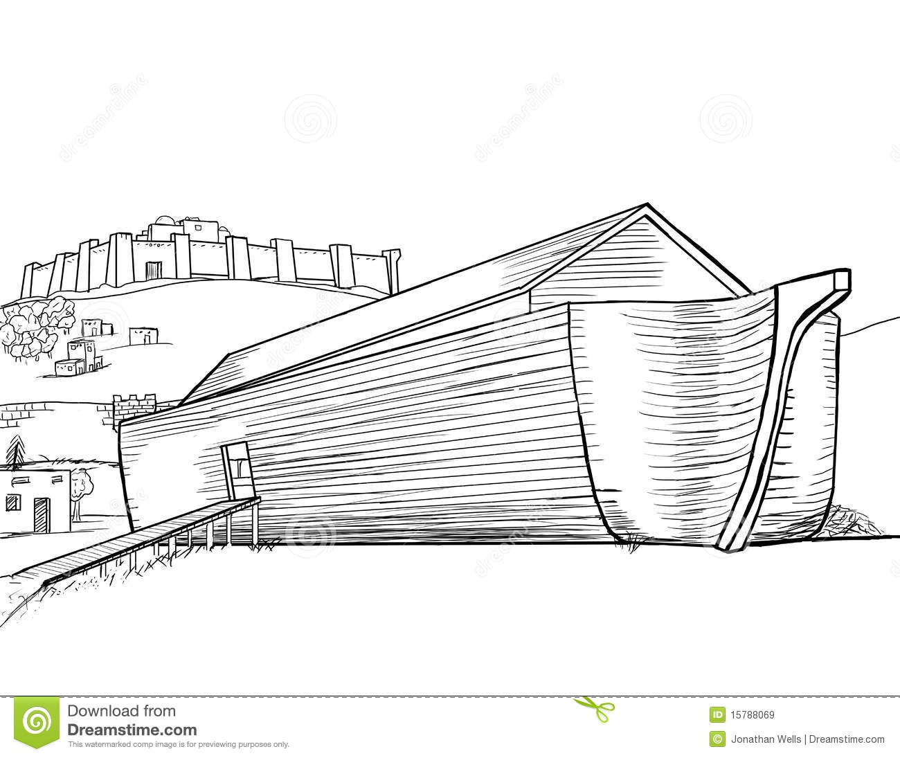 Noah S Ark Completed Royalty Free Stock Images