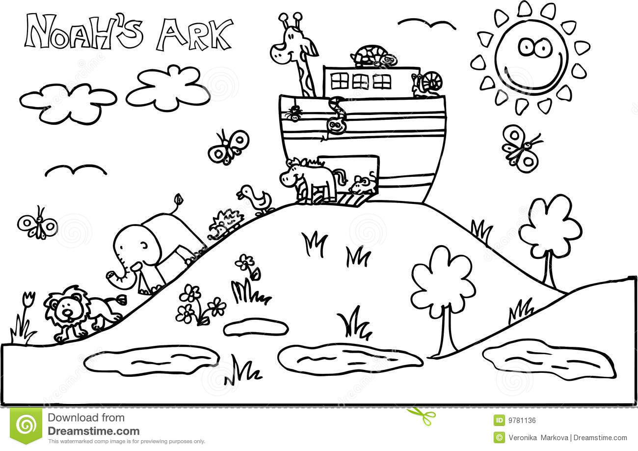 Noahs Ark Stock Vector Illustration Of Bible Insects