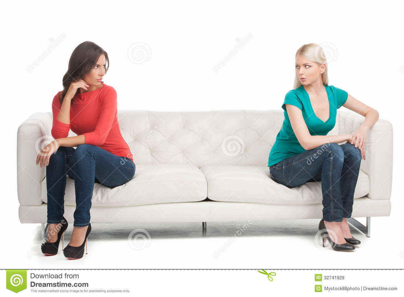 Not Friends Anymore Stock Image Image Of Beautiful