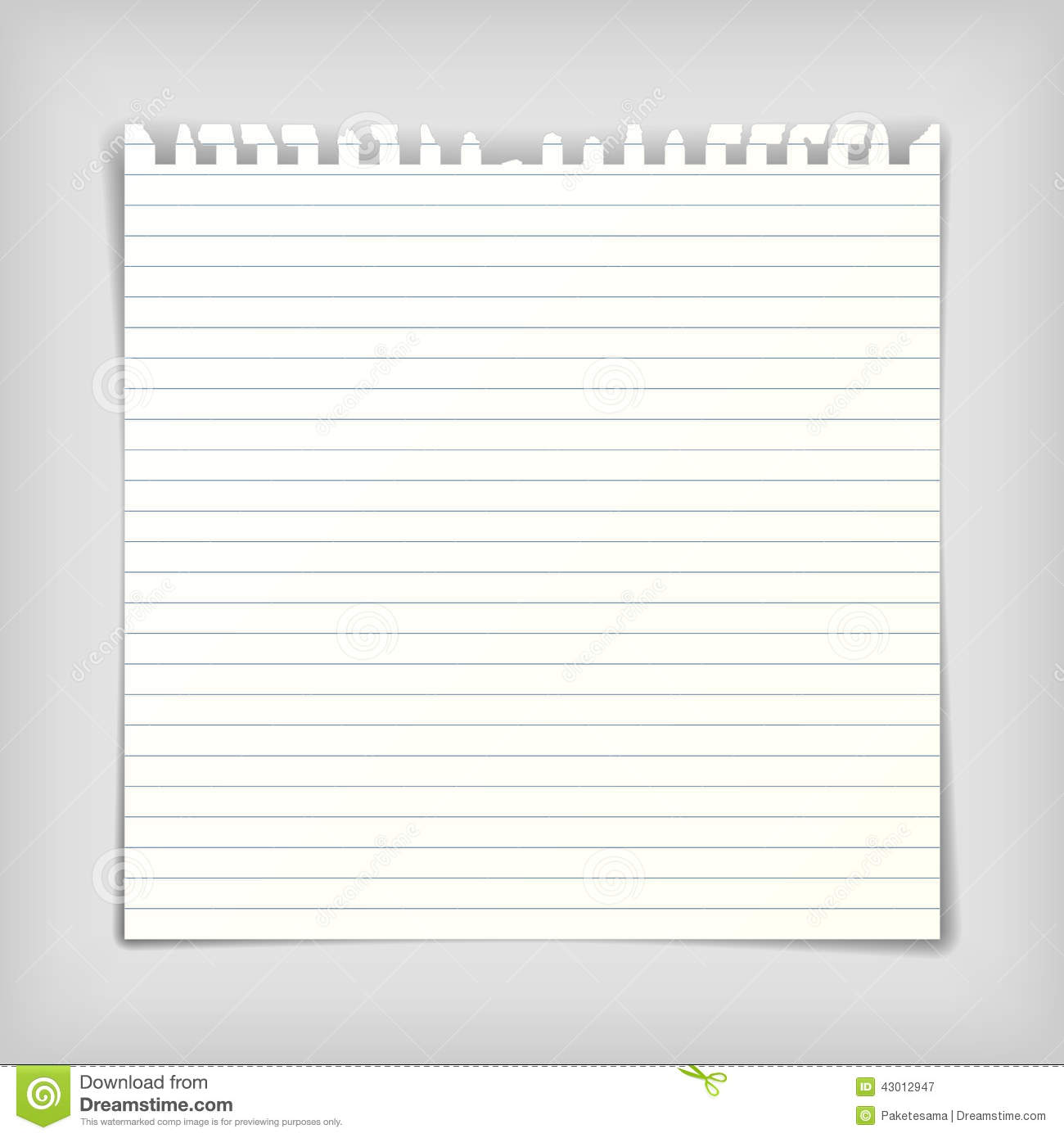 Note Paper Sheet With Lines Stock Vector