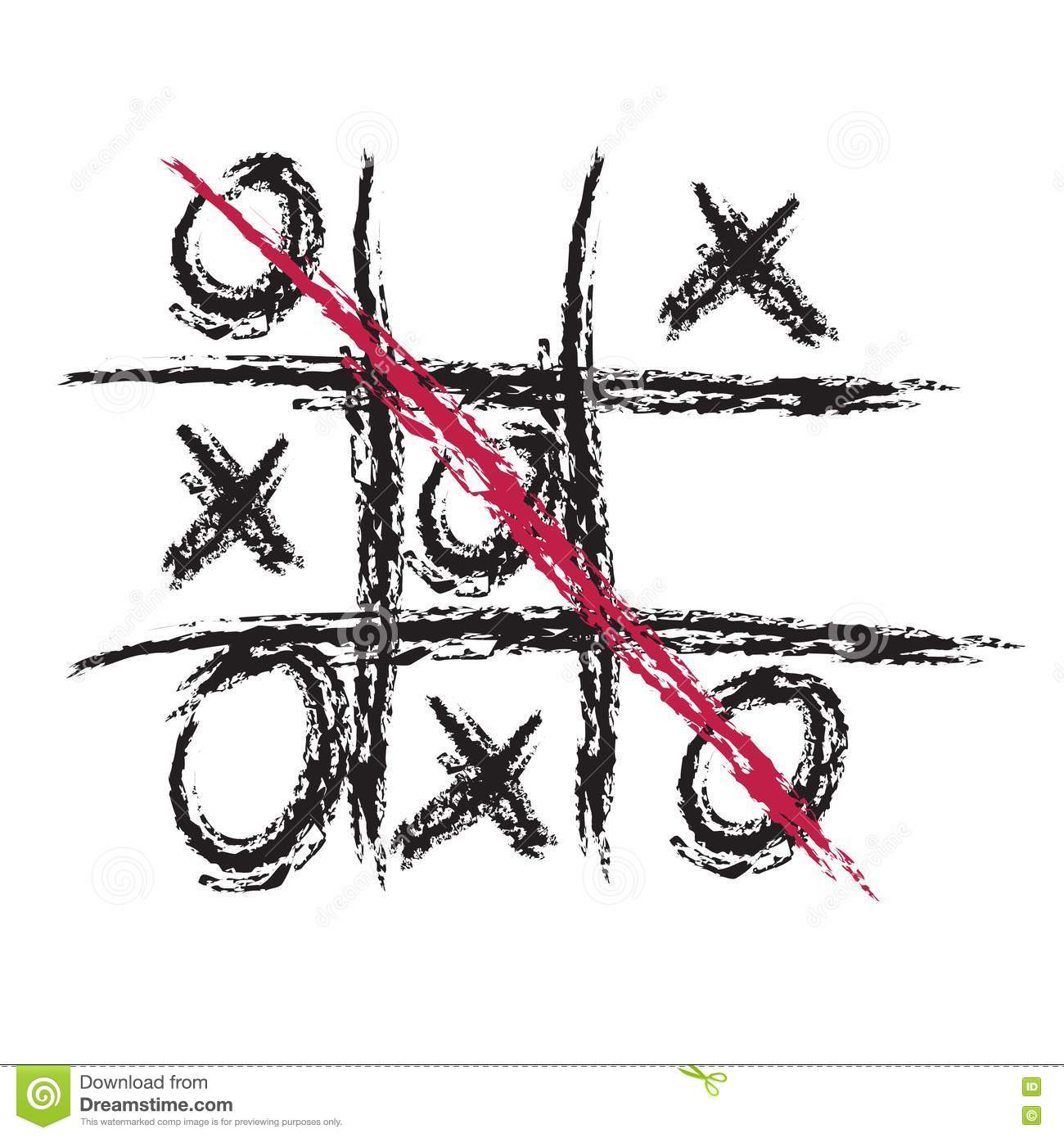 Noughts And Crosses Game Stock Images