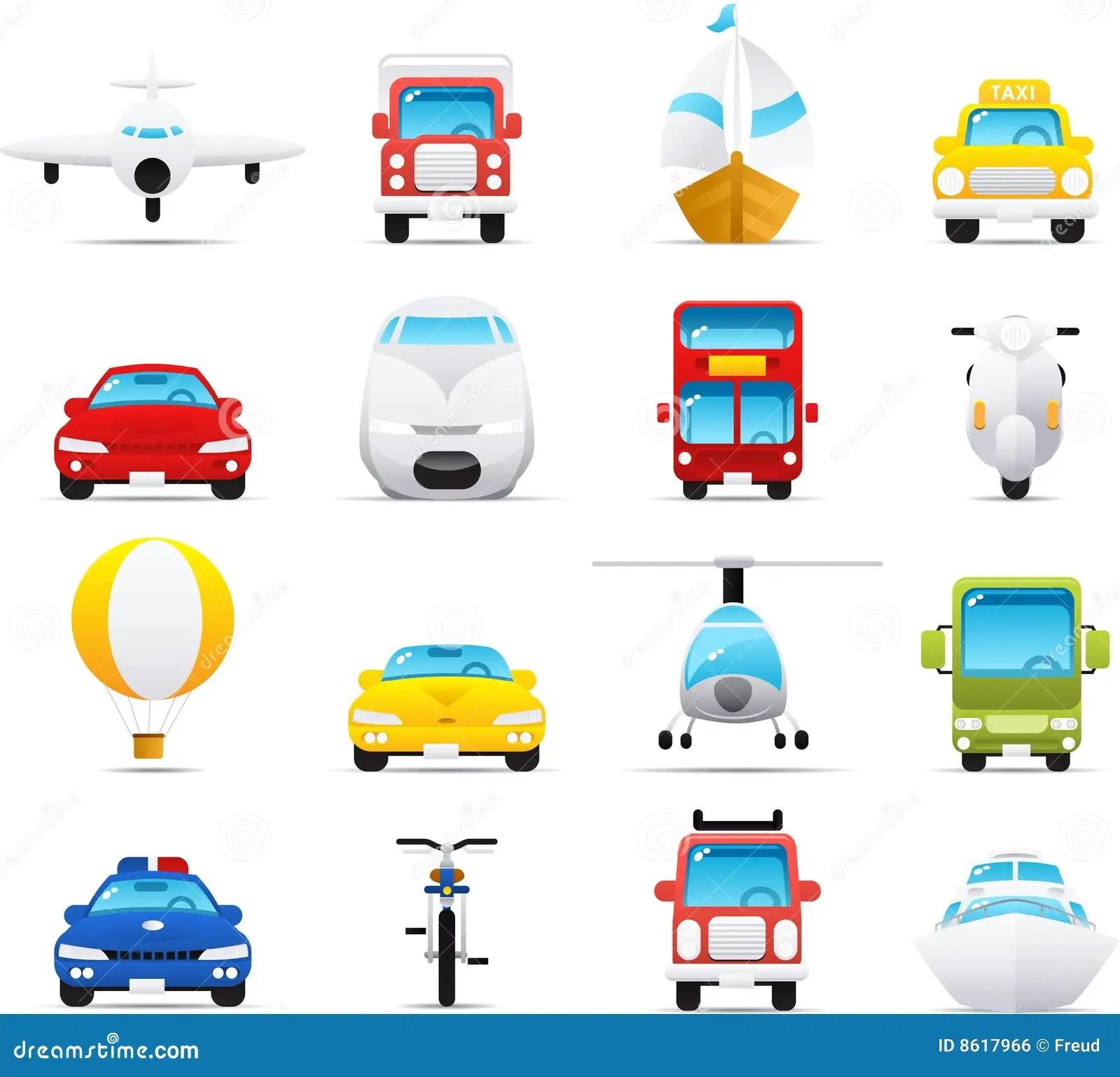 Nouve Icon Set Transportations Royalty Free Stock Image