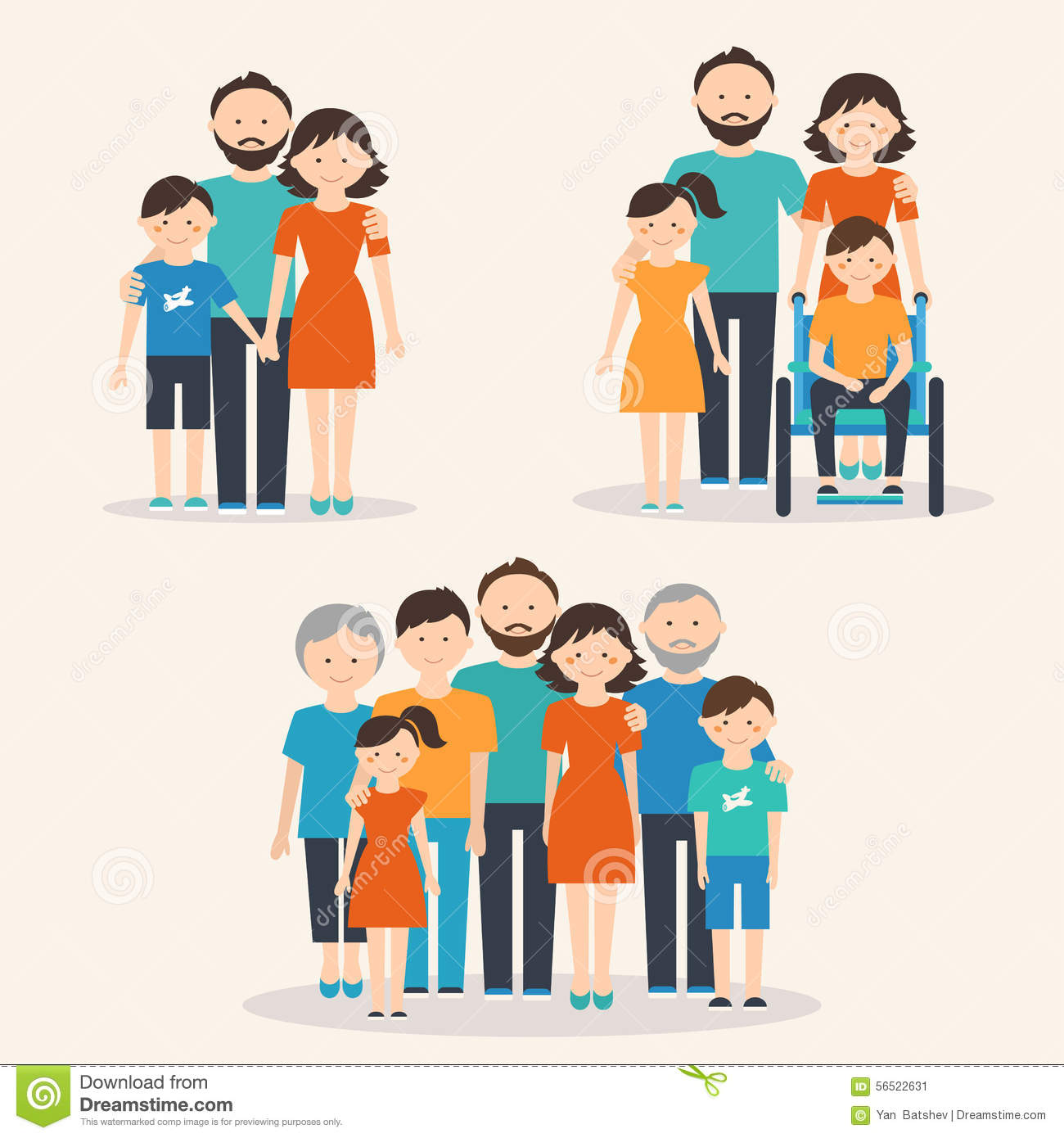 Nuclear Family Family With Special Needs Child And
