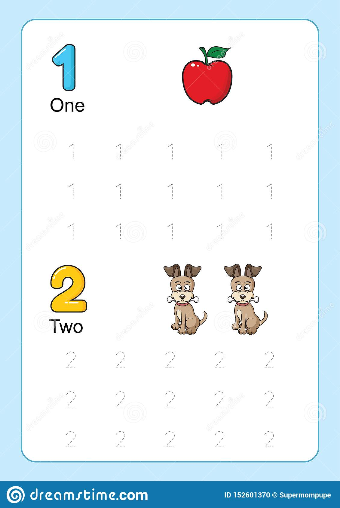Number Tracing And Writing Tracing Worksheet For
