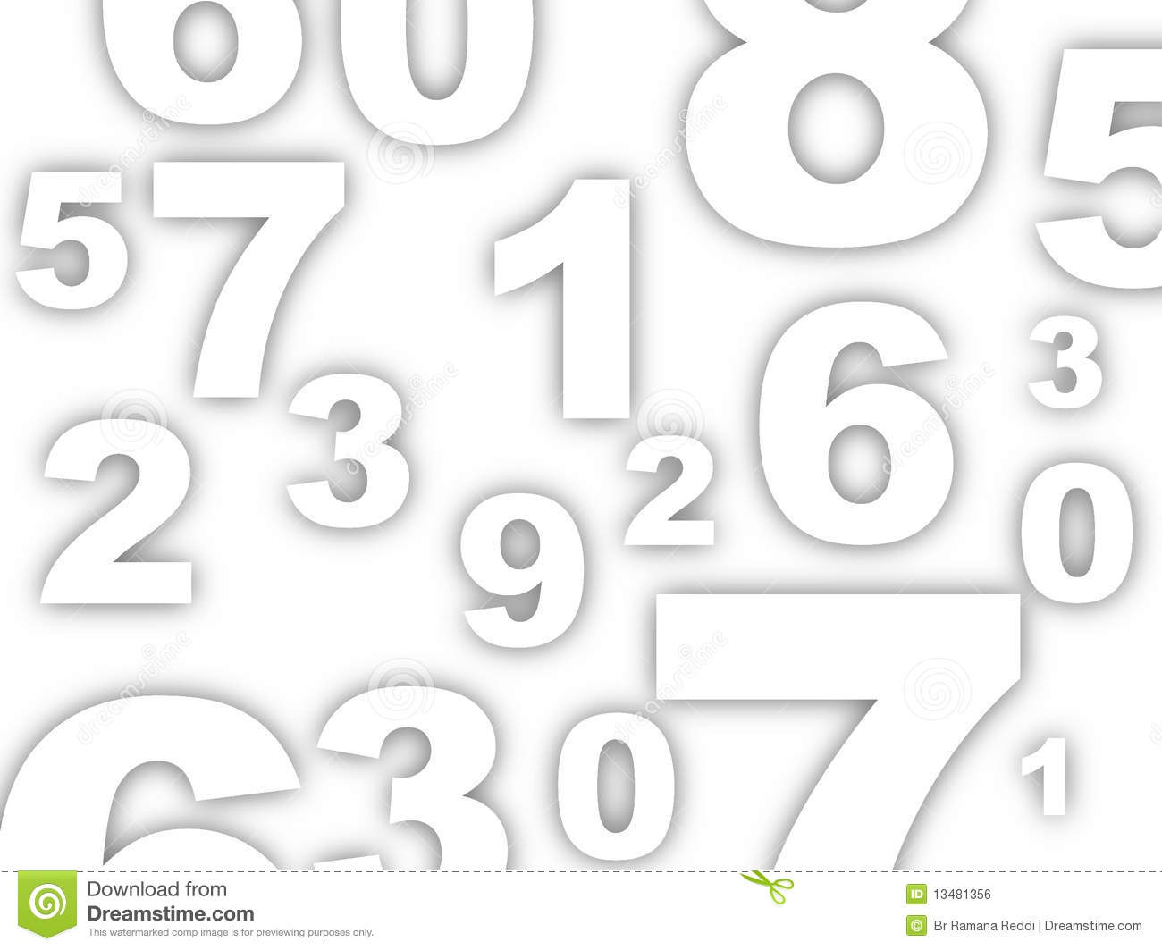 Numbers Background Stock Illustration Image Of Subtract